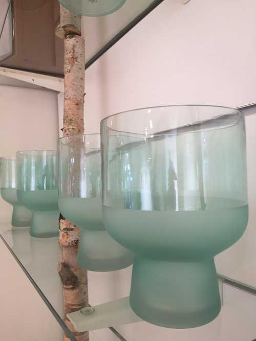 Vase Verre Vert Menthe 0