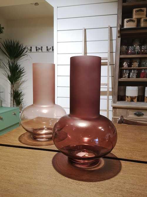 Vase Verre rose 0