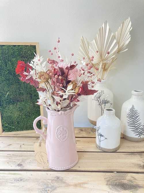 Bouquet de Fleurs séchées avec son vase 0