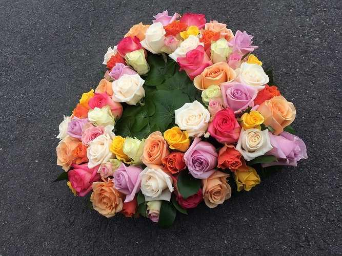 Coeur de roses 0
